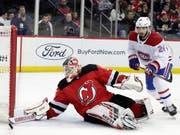 Torhüter Cory Schneider war der Matchwinner von New Jersey beim 2:1-Sieg gegen die Montreal Canadiens (Bild: KEYSTONE/AP/JULIO CORTEZ)
