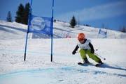 Mit Vollgas um die Tore: Die Kinder und Jugendliche hatten grossen Spass am SCU Ski- und Snowboard-Cup. (Bild: PD)