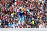 Nadine Fähndrich auf dem Weg zu Rang 5 an der WM über 10 km. (Bild: Peter Schneider / Keystone, 26. Februar 2019)