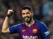 Luis Suarez war Doppel-Torschütze von Barcelona im Cup-Halbfinal gegen den Erzrivalen Real Madrid (Bild: KEYSTONE/EPA EFE/RODRIGO JIMENEZ)