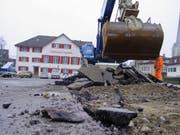 Das Gasthaus Ochsen bleibt eine Baustelle. (Bild: Max Eichenberger)