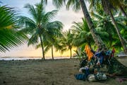 Campen am Strand in Costa Rica. (Bild: PD)