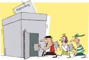 Am 10. März stimmen die Wiler über eine Steuersenkung ab. (Illustration: Tom Werner)