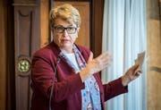 Polizeidirektorin Cornelia Komposch (SP) musste sich im Grossen Rat Kritik anhören. (Bild: Reto Martin)