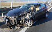 In Uffikon sah ein Auto nach einem Unfall so aus. (Bild: Luzerner Polizei)
