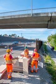 Sanierung der Autobahn A1 zwischen Rheineck und und St. Margrethen. (Bild: Urs Bucher (11. September 2018)