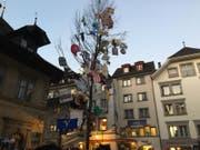 Der Guuggerbaum – Ein Symbol der Luzerner Fasnacht. (Bild: Kilian Küttel)