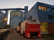 Die Feuerwehr Frauenfeld vor der Zuckerfabrik