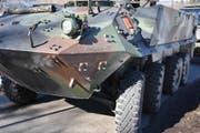 Das Militärfahrzeug weist verständlicherweise kaum Beschädigungen auf. (Bild: Kapo)
