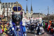 Die Chatzemusig Lozärn mit dem Motto Königinnen der Katzen. (Bild: Philipp Schmidli)