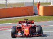 Charles Leclerc zeigt im Ferrari einen guten Test in Spanien (Bild: KEYSTONE/AP/JOAN MONFORT)