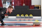 Grösste Schweizer Goldhoffnung: Skip Yannick Schwaller mit dem Curlingteam Bern Zähringer. (Bild: Urs Lindth/Freshfocus (Thun, 15. Februar 2019))