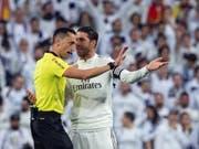 Sergio Ramos ist mit den Schiedsrichtern nicht immer einer Meinung (Bild: KEYSTONE/EPA EFE/RODRIGO JIMENEZ)