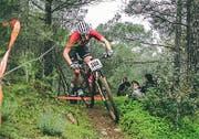 Die Urner Bikerin Linda Indergand zeigte sich bereits beim ersten Ernstkampf des Jahres in guter Form. (Bild: PD)