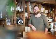 Ramon Nietlispach, hier im Restaurant Meating, wird den Siehbach-Kiosk mit neuem Konzept erstmals Mitte Mai öffnen. (Bild: Stefan Kaiser (Zug, 28. Februar 2019))