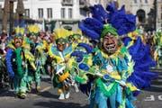 Die Guuggemusig Cocoschüttler Meggen mit dem Motto Samba do Brasil. (Bild: Philipp Schmidli)