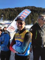 Kurz nach dem Rennen zeigte sich Beda Klee schon wieder gut erholt. (Bild: Urs Huwyler)