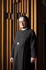 Schwester Simone ist Priorin des Klosters Heiligkreuz in Cham. (Bild: Claudio Thoma (Cham, 21. Februar 2019))