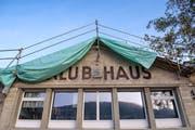 Das Spanische Klubhaus während der Sanierung. (Bild: Urs Bucher - 23. Oktober 2018)