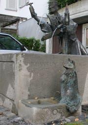 Der Johann-Linder-Brunnen im St.Galler Linsebühl. (Bild: Reto Voneschen - 22.8.2017)