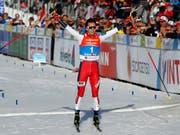 Triumphator im Weltcup und an der WM: Jarl Magnus Riiber (Bild: KEYSTONE/AP/MATTHIAS SCHRADER)