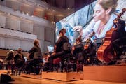 Das City Light Symphony Orchestra begleitet Emma Watson in «The Beauty and the Beast». Bild: Nadia Schärli (Freitag, 1. Februar 2019)