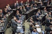 Der Luzerner Kantonsrat debattierte Ende Januar über die Aufgaben- und Finanzreform. (Bild: Nadia Schärli, 28. Januar, Luzern)