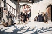 Dreharbeiten für den Film Zwingli in Stein am Rhein beim Kloster St. Georgen. (Bild: PD/Sabrina Stübi)
