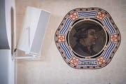 In der evangelischen Kirche Weinfelden befinden sich an den Wänden Portraits von Luther und Zwingli. (Bild: Reto Martin)