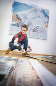 El Frauenfelder richtet ihre Ausstellung «gedacht» im Kunstverein Frauenfeld ein. (Bild: Andrea Stalder)