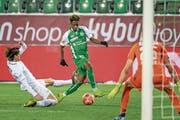 Majeed Ashimeru fällt mit einer guten Leistung und dem Tor zum 3:0 auf. (Bild: Michel Canonica)