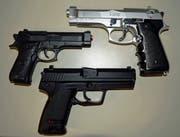 Verboten: Softair Pistolen (Bild: Luzerner Polizei)