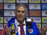 Carlos Queiroz wurde in Bogota vorgestellt (Bild: KEYSTONE/EPA EFE/JUAN PAEZ)