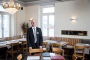 Der neue Pächter des Restaurants Wyhof in Sursee: René Foster im aufgefrischten Lokal. (Bild: Manuela Jans-Koch, 7. Februar 2019)