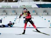 Johannes Thingnes Bö war auch in Kanada eine Klasse für sich (Bild: KEYSTONE/AP ANSA/ANDREA SOLERO)