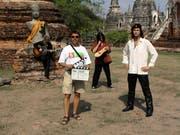 Marco Lucchi bei einem mit der Hardrockband Gotthard um den verstorbenen Sänger Steve Lee in Ayutthaya (Thailand). (Bild: PD)