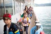 Kinder auf der Schulreise, hier unterwegs mit dem Schiff auf dem Vierwaldstättersee. (Symbolbild: Manuela Jans-Koch)