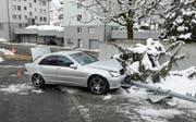 Die Spritztour eines 14-Jährigen endete so und hat eine teure Rechnung zur Folge. (Bild: Luzerner Polizei)