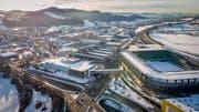 Das Industriegebiet von Winkeln ist eines der wichtigsten wirtschaftlichen Stadtentwicklungsgebiete der Region. Hier beteiligen sich St.Gallen, Gossau, Gaiserwald und Privatunternehmen gemeinsam an der Suche nach neuen Visionen. (Bild: Urs Bucher - 16. Januar 2019)