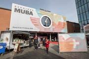 Eingang zur MUBA Baasel, fotografiert anlaesslich der letzten MUBA Eroeffung nach 103 Jahren MUBA, am Freitag, 8. Februar 2019 bei der Messe Basel.(KEYSTONE/Patrick Straub)