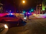 Der kanadische Attentäter auf eine Moschee in Québec muss für mindestens 40 Jahre hinter Gitter. (Archivbild vom Anschlag) (Bild: KEYSTONE/EPA/ANDRE PICHETTE)
