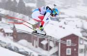 Wendy Holdener während der Kombinations-Abfahrt an der Ski-WM in Schweden. (Bild: Christian Bruna/EPA (Åre, 8. Februar 2019))