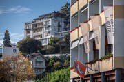 Die Weggiser Hotels Albana (hinten) und Post Hotel (vorne). (Bild: Pius Amrein (24. Oktober 2018))