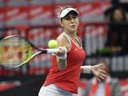 Bringt das Schweizer Fed-Cup-Team gegen Italien in Führung: Belinda Bencic (Bild: KEYSTONE/ANTHONY ANEX)