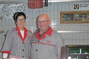 Anita und Lukas Zünd freuen sich auf den neuen Lebensabschnitt. Ab Montag, 1. April, bleibt der Laden an der Staatsstrasse 162 geschlossen. (Bild: Kurt Latzer)