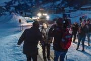 Fabian Böschs Empfang in seinem Heimatdorf hat für grosses Medieninteresse gesorgt. (Bild: Roger Grütter (Engelberg, 9. Februar 2019))
