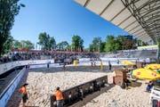 Vergangenes Jahr fand, trotz finanzieller Unsicherheiten, ein Turnier auf der Luzerner Lidowiese statt – vorläufig wohl zum letzten Mal. Bild: Pius Amrein (Luzern, 11. Mai 2018)