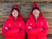 Ein äusserst erfolgreiches Duo: Noé und Vater Michel Roth (Bild: KEYSTONE/ALEXANDRA WEY)