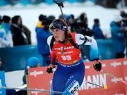 Lena Häcki war beim 5. Platz der Schweizerinnen im kanadischen Canmore die Schlussläuferin (Bild: KEYSTONE/EPA/ANTONIO BAT)