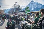 Rund 300 Urner Guggenmusiker hatten am Samstag bei der «Gugg-Urinvasion» in Flüelen einen grossen Auftritt. (Bild: Boris Bürgisser (Flüelen, 9. Februar 2019))
